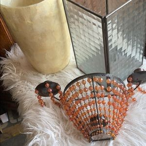 2 Pillar Candle Holders and 2 Beaded Sconces Ilume